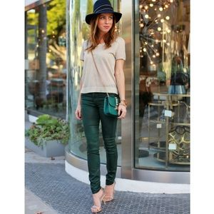 Hudson Jeans Nico Mid Rise in Green Envy